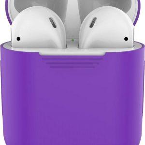 Siliconen case   geschikt voor airpods   paars