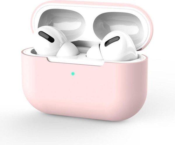 Siliconen hoesje Apple AirPods Pro roze - AirPods case roze - AirPod pro case