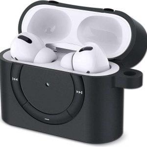 Spigen Classic Shuffle Apple AirPods Pro hoesje - Airpods Pro Case - Zwart