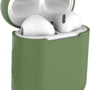Studio Air® Airpods Hoesje Siliconen Case - Army Series - Soepel Airpod Hoesje - Groen - Voor Airpods 1 en 2