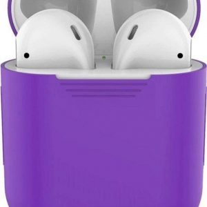 Studio Air® Airpods Hoesje Siliconen Case - Paars - Soft Case - Airpods Case - Airpods 1&2