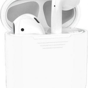 Studio Air® Airpods Hoesje Siliconen Case - Soepel Airpod Hoesje - Extreme White - Voor Airpods 1 en 2