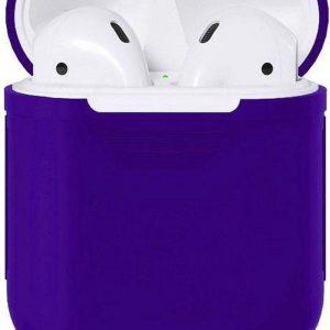 Studio Air® Airpods Hoesje Siliconen Case - Soepel Airpod Hoesje - Kobalt Blauw - Voor Airpods 1 en 2