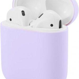 Studio Air® Airpods Hoesje Siliconen Case - Soepel Airpod Hoesje - Lila - Voor Airpods 1 en 2