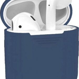 Studio Air® Airpods Hoesje Siliconen Case - Soepel Airpod Hoesje - Royal Blue - Voor Airpods 1 en 2