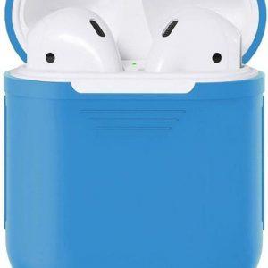 Studio Air® Airpods Hoesje - Soepel Siliconen Airpod Hoesje - Blauw - Voor Airpods 1 en Airpods 2
