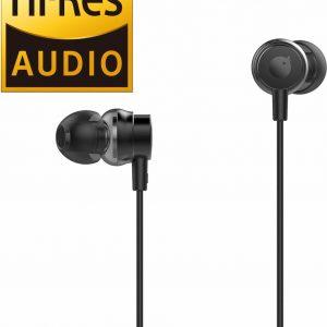 Tuddrom H2 Zwart - Hi-Res In Ear Oordopjes met Microfoon - Dual High Quality Dynamic Drivers - 2 Jaar Garantie