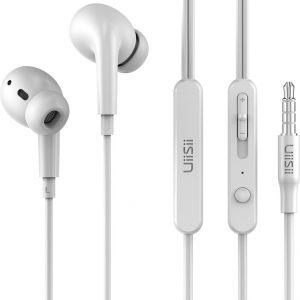 UiiSii UX Oordopjes Wit - Oortjes met draad en microfoon - 120cm Aux Kabel