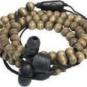 Wraps Natural Walnut Wristband headphones