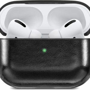 YONO Airpods Pro Hoesje Leer - Hard Case - Zwart