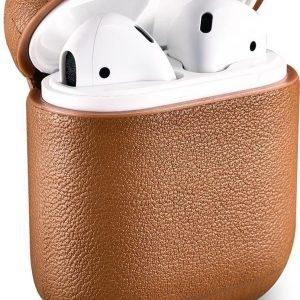 iCarer - Nappa Etui voor Apple AirPods - Bruin