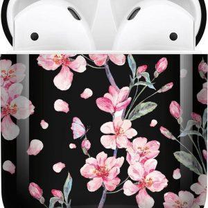 iMoshion Design Hardcover Case voor de AirPods - Blossom Watercolor Black
