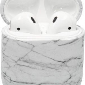 iMoshion Hardcover Case voor de AirPods - Wit Marmer