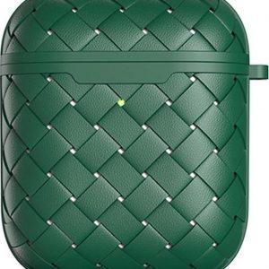 AirPods hoesje van By Qubix - AirPods 1/2 hoesje TPU Wave Series - soft case - groen