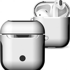 AirPods hoesje van By Qubix - AirPods 1/2 hoesje soft grip - hard case - wit - Schokbestendig