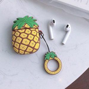 Airpods Hoesje - Airpods Case - Japanse Cartoon Kawaii Stijl Cute - Ananas - Cadeau - Cadeautjes