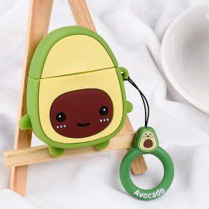 Airpods Hoesje - Airpods Case - Japanse Cartoon Kawaii Stijl Cute - Avocado - Cadeau - Cadeautjes