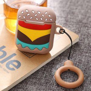 Airpods Hoesje - Airpods Case - Japanse Cartoon Kawaii Stijl Cute - Hamburger - Cadeau - Cadeautjes