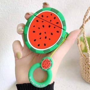 Airpods Hoesje - Airpods Case - Japanse Cartoon Kawaii Stijl Cute - Water Meloen - Cadeau - Cadeautjes