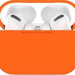 Airpods Pro Hoesje Siliconen Case - Oranje - Airpod hoesje geschikt voor Apple AirPods Pro