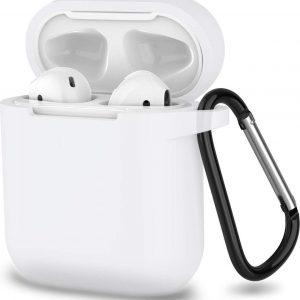 Apple Airpods 1 en 2 ultra dunne siliconen cover - Hoesje - extra dunne Apple Airpods siliconen cover met sleutelhanger - Transparant