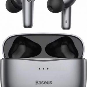 Baseus SiMU S2 Echte draadloze oortelefoons - Hybrid Active Noice Cancelling - Grijs
