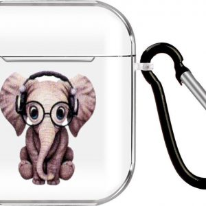 By Qubix - AirPods 1/2 hoesje Cartoon Serie - TPU - Olifant - AirPods hoesjes