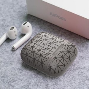By Qubix - AirPods 1/2 hoesje triangle series - soft case - grijs - AirPods hoesjes