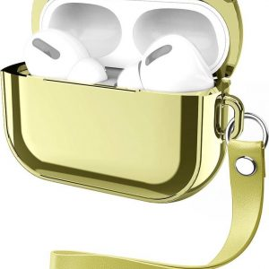 By Qubix - AirPods Pro Glans - hard case - Goud - AirPods hoesjes