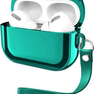 By Qubix - AirPods Pro Glans - hard case - Groen - AirPods hoesjes