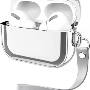 By Qubix - AirPods Pro Glans - hard case - Zilver - AirPods hoesjes