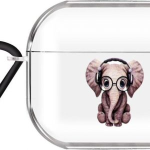 By Qubix - AirPods Pro hoesje Cartoon Serie - TPU - Olifant - AirPods hoesjes