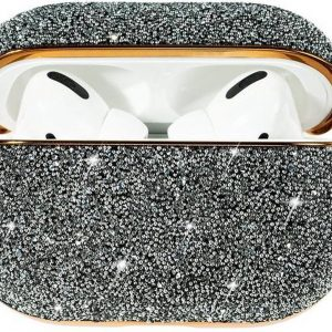 Crystal Fabric shiny glitter case Protector for AirPods AirPods Pro - Zilver