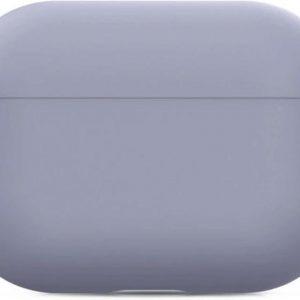 (Donker) Paars Hoesje Apple Airpods Pro - Siliconen hoesje - beschermhoesje - Soft case - Cover