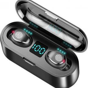 Draadloze oordopjes - Bluetooth oordopjes - Met oplaadbare case - Waterproef - Zwart