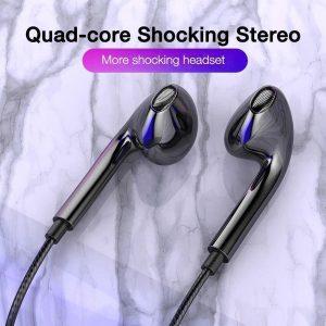 Earbuds - Oortjes - Oortelefoon - Diepe Bas - Met Microfoon - Zwart