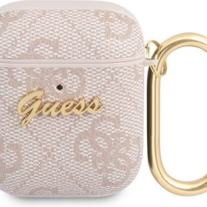 GUESS 4G Script Logo AirPods 1 / AirPods 2 Case - Pink