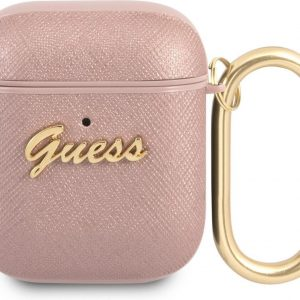 GUESS Saffiano Logo AirPods 1 / AirPods Case 2 - Pink