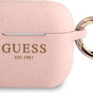GUESS Siliconen Glitter Hoesje AirPods 3 - Roze