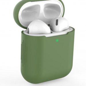 Gadgetpoint   Airpods Hoesje Siliconen Case - Airpod hoesje geschikt voor Apple AirPods 1 en Airpods 2   Groen