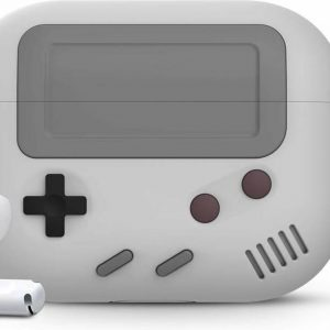 Game Console Case Cover Voor Airpods Pro - Siliconen Grijs | Watchbands-shop.nl