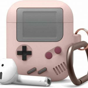 Game Console Case Cover Voor Airpods - Siliconen Roze | Watchbands-shop.nl