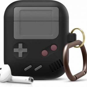 Game Console Case Cover Voor Airpods - Siliconen Zwart | Watchbands-shop.nl