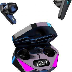 Gaming In-ear oordopjes met Microfoon - Draadloos - PC - telefoon - Bluetooth - Zwart