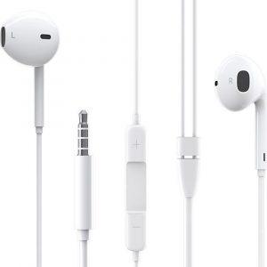 HOCO BM30 Original Series - In Ear Oordopjes - Oortjes met draad en microfoon - 3,5mm Jack Aansluiting - 120cm kabel - Wit