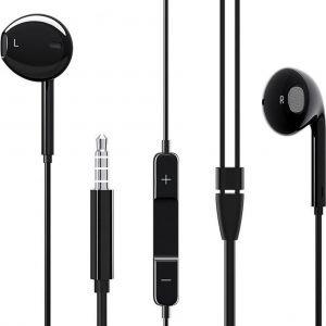 HOCO BM30 Original Series - In Ear Oordopjes - Oortjes met draad en microfoon - 3,5mm Jack Aansluiting - 120cm kabel - Zwart