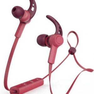 "Hama Bluetooth®-koptelefoon ""Connect"", in-ear, micro, ear-hook, rood"