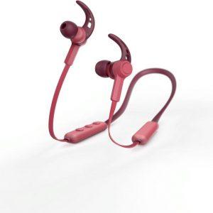"""Hama Bluetooth®-koptelefoon """"Nekband"""", in-ear, micro, ear-hook, rood"""