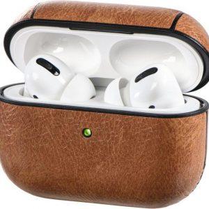 Hama Etui voor Apple AirPods Pro, lederlook, met sportband, bruin