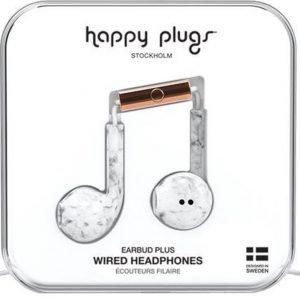 Happy Plugs Earbud Plus - In-ear oordopjes - Wit/Marble